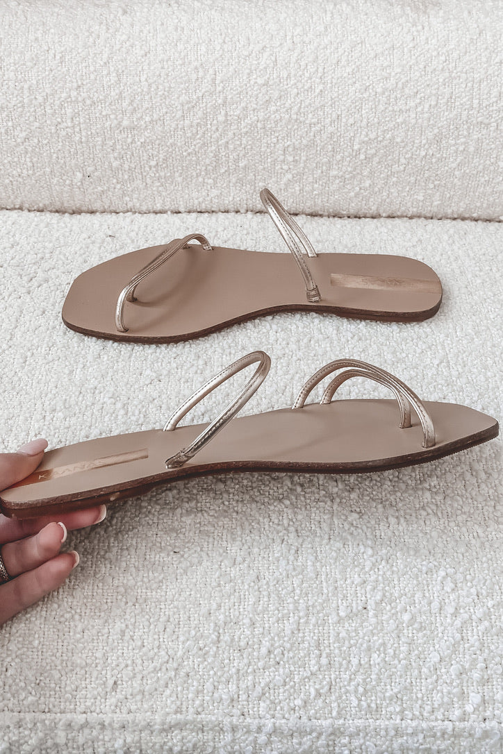 KAANAS Gardenia Gold Sandals