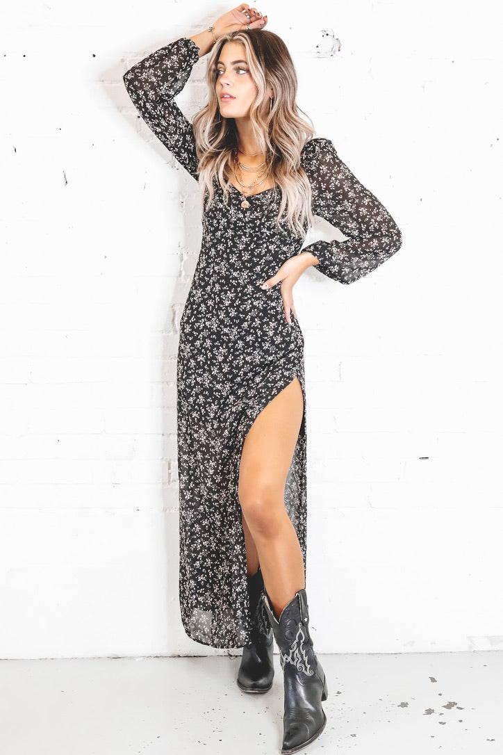 Runnin' Wild High Slit Dress