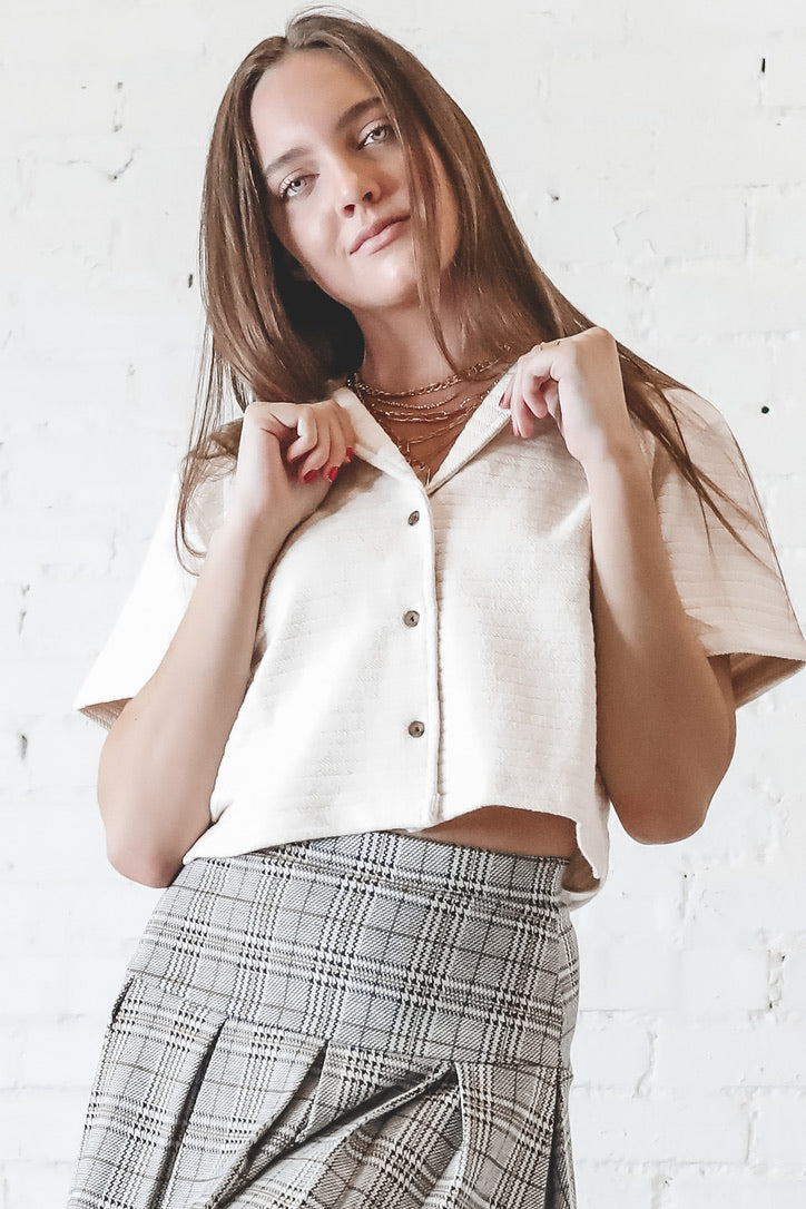 THRILLS Terry Crop Shirt