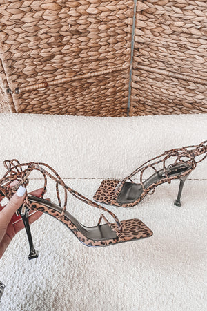 Wild Child Leopard Strappy Heels