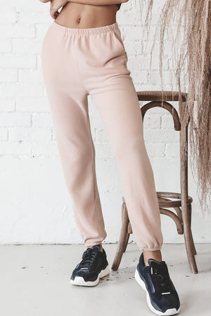 Make Luck Mahogany Rose Joggers
