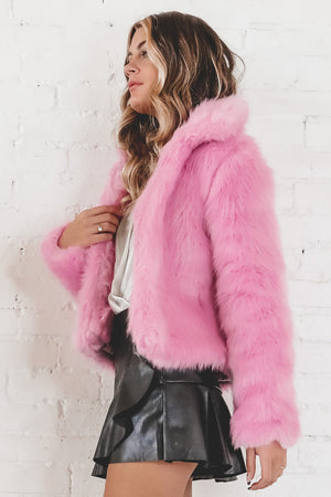 Candy Land Pink Fur Jacket