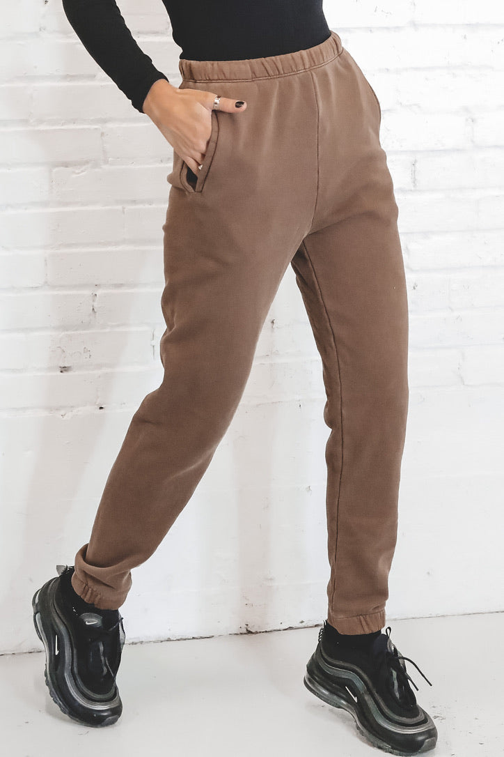 JOHN BROWN Cocoa French Terry Empire Joggers