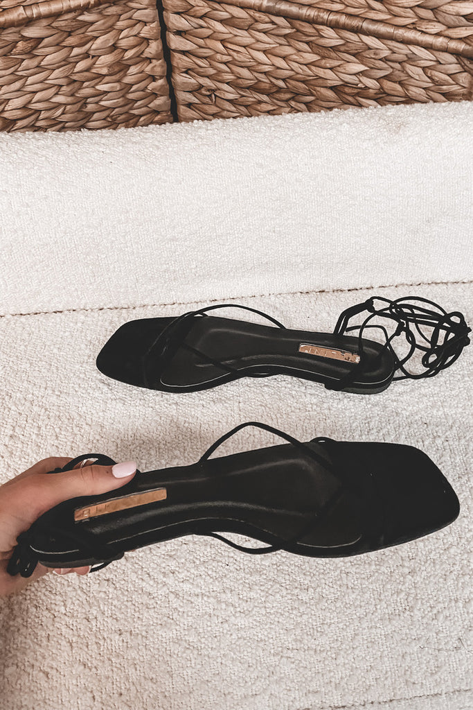 BILLINI Amina Black Suede Sandals