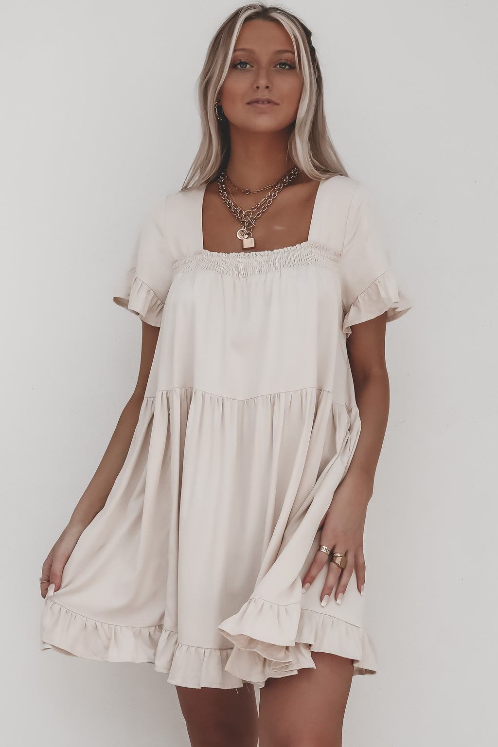 Blush Baby Blush Soft Blush Babydoll Dress