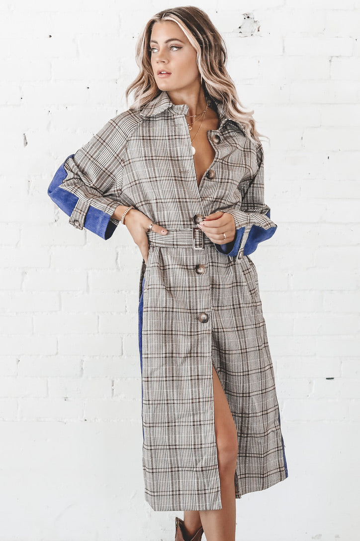Have My Cake And Plaid Too Denim Dress