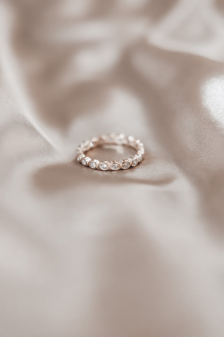 SAHIRA 18k Celeste Gold Eternity Ring