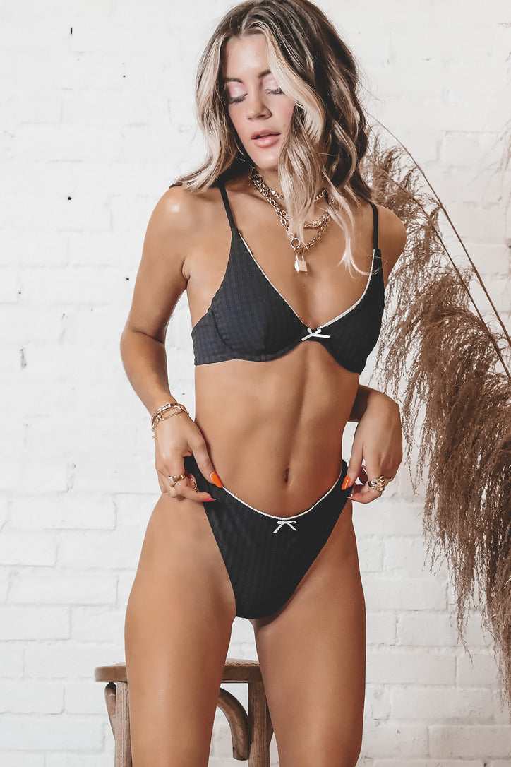THRILLS Polly Bikini Bottom - Black