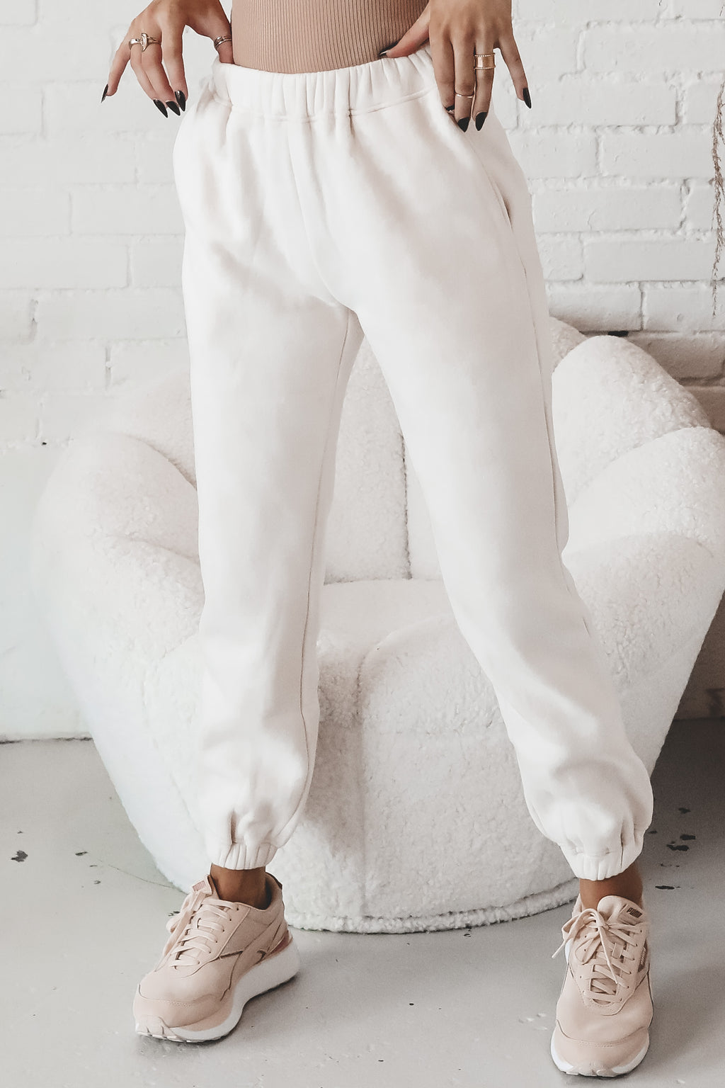 Athletes Table Cream Joggers