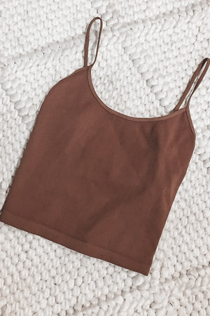 Rosé All Day Lounge Low Back Crop Top