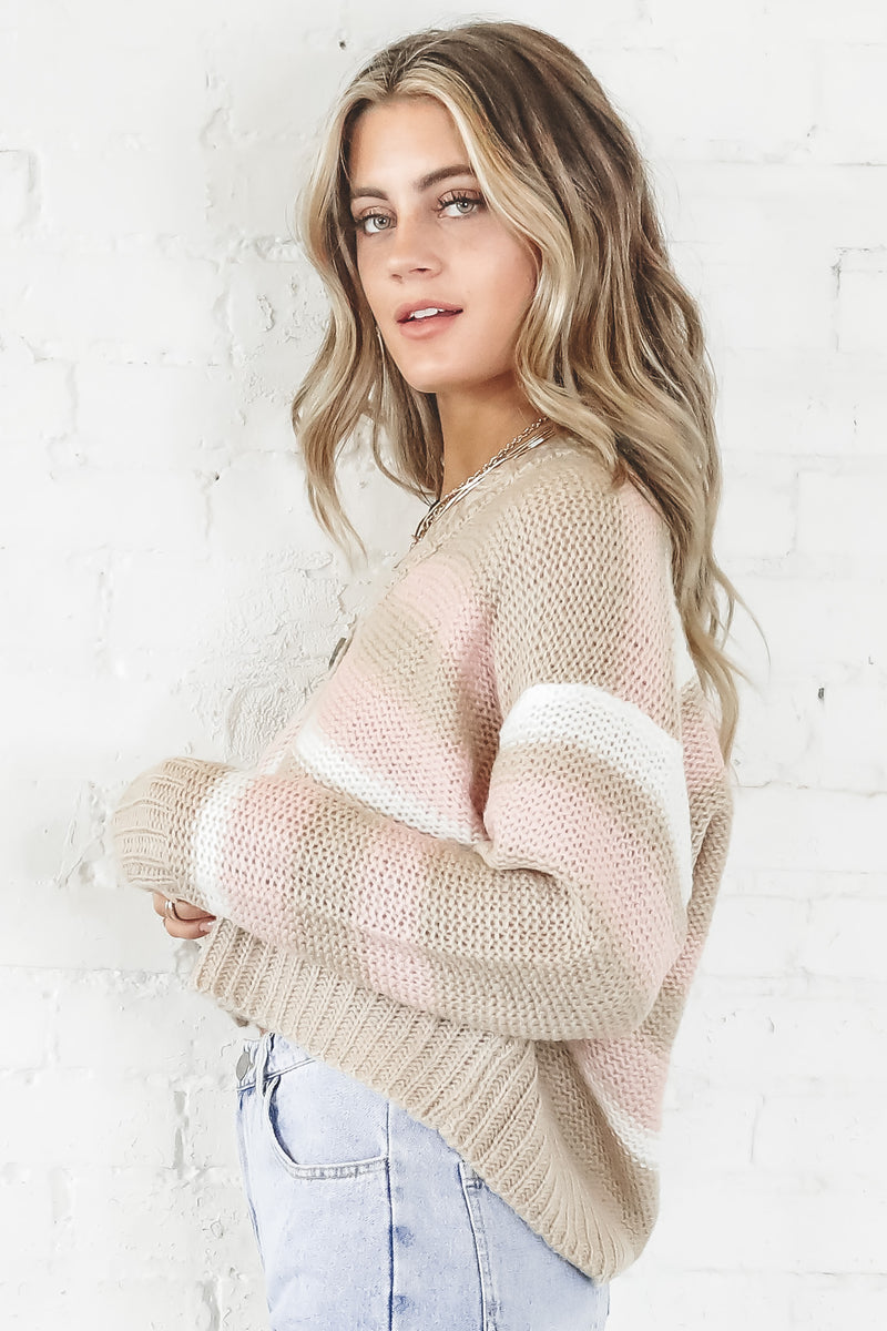 Call In Taupe Knit Cardigan