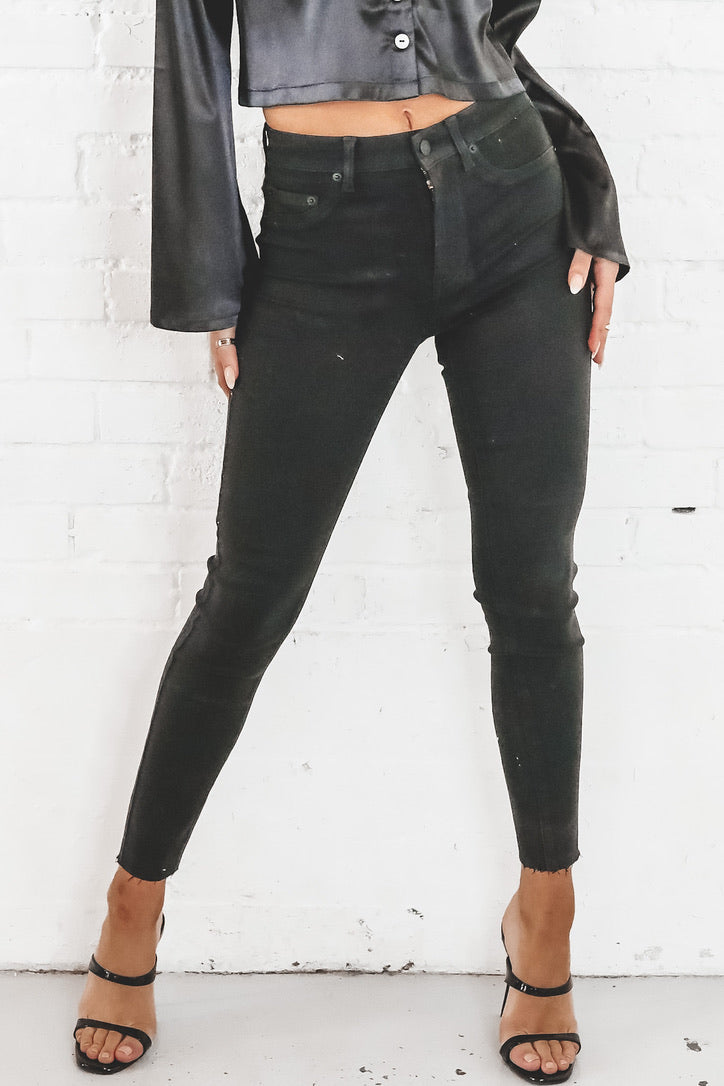PISTOLA Aline High Rise Skinny - Coated Black