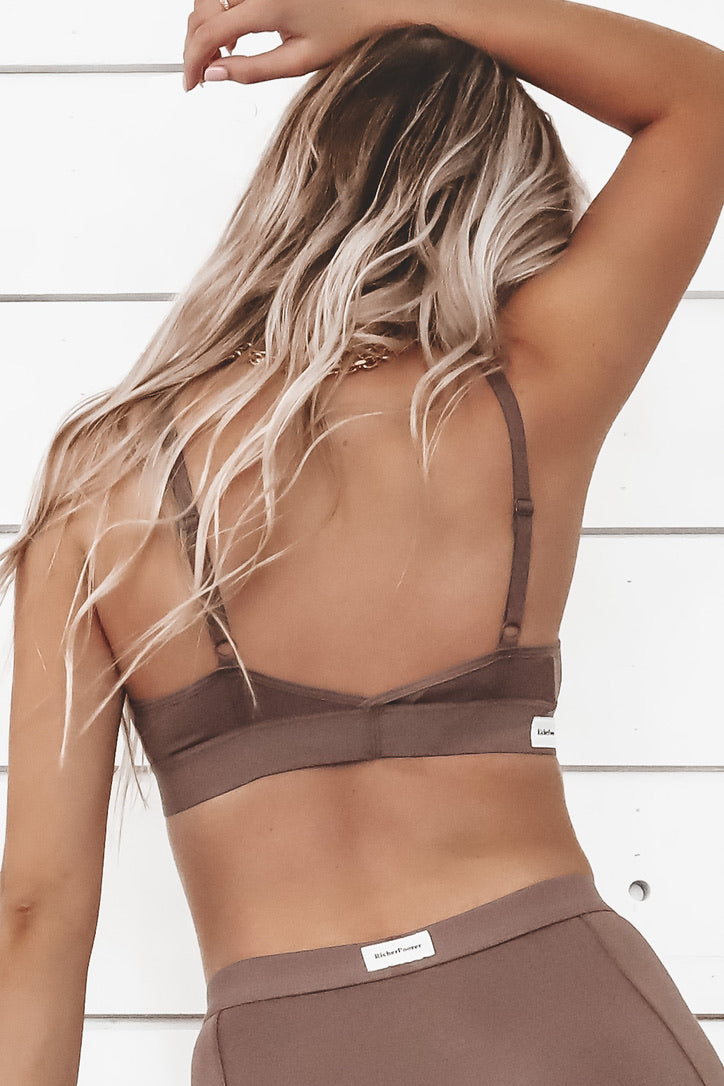 RICHER POORER Classic Bralette In Plum Smoke Loungewear