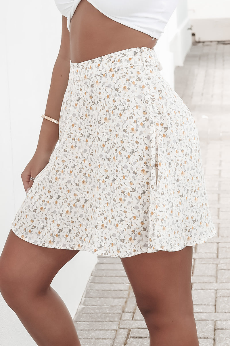 Give Me Butterflies Floral Mini Skirt