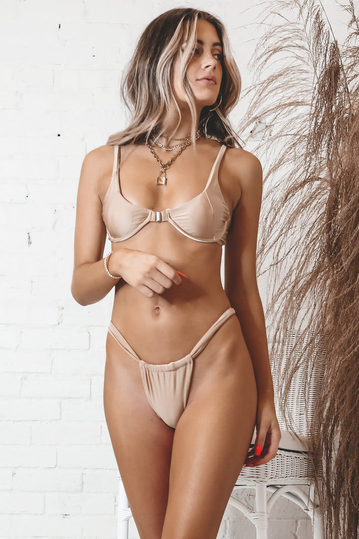 Beachtown Nightlife Nude Bikini Top