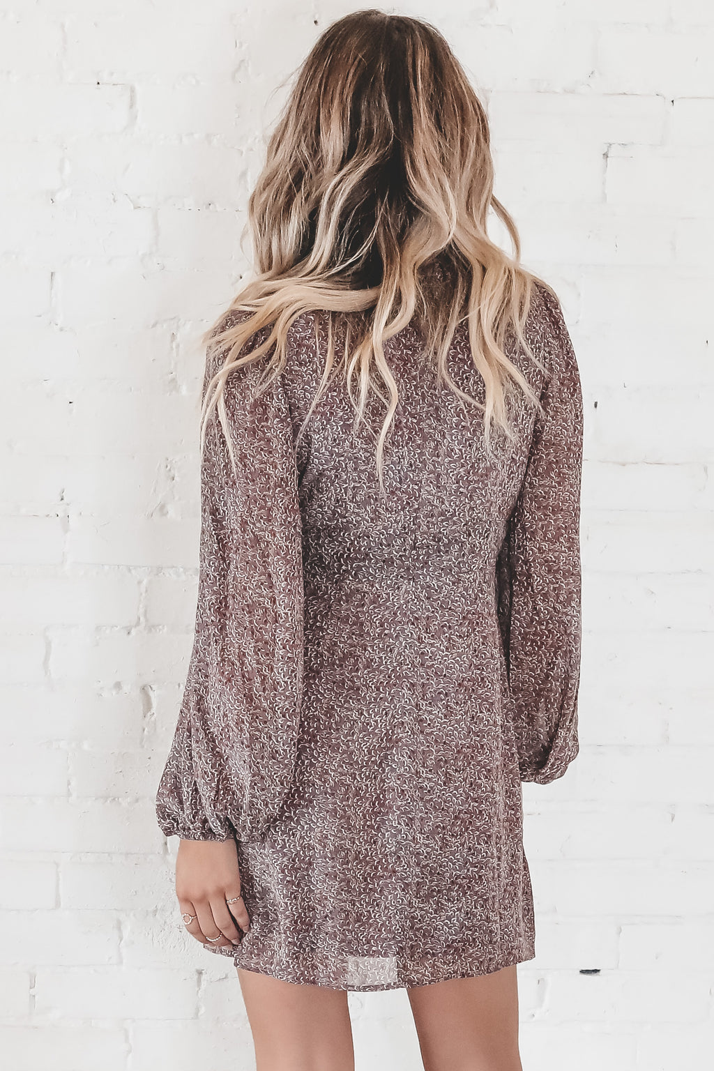 Over You Long Sleeve Mini Dress