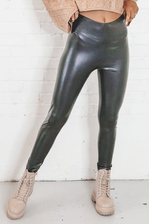 Prove It Black Leather Leggings