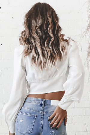 Wishing And Missing White Lace Top