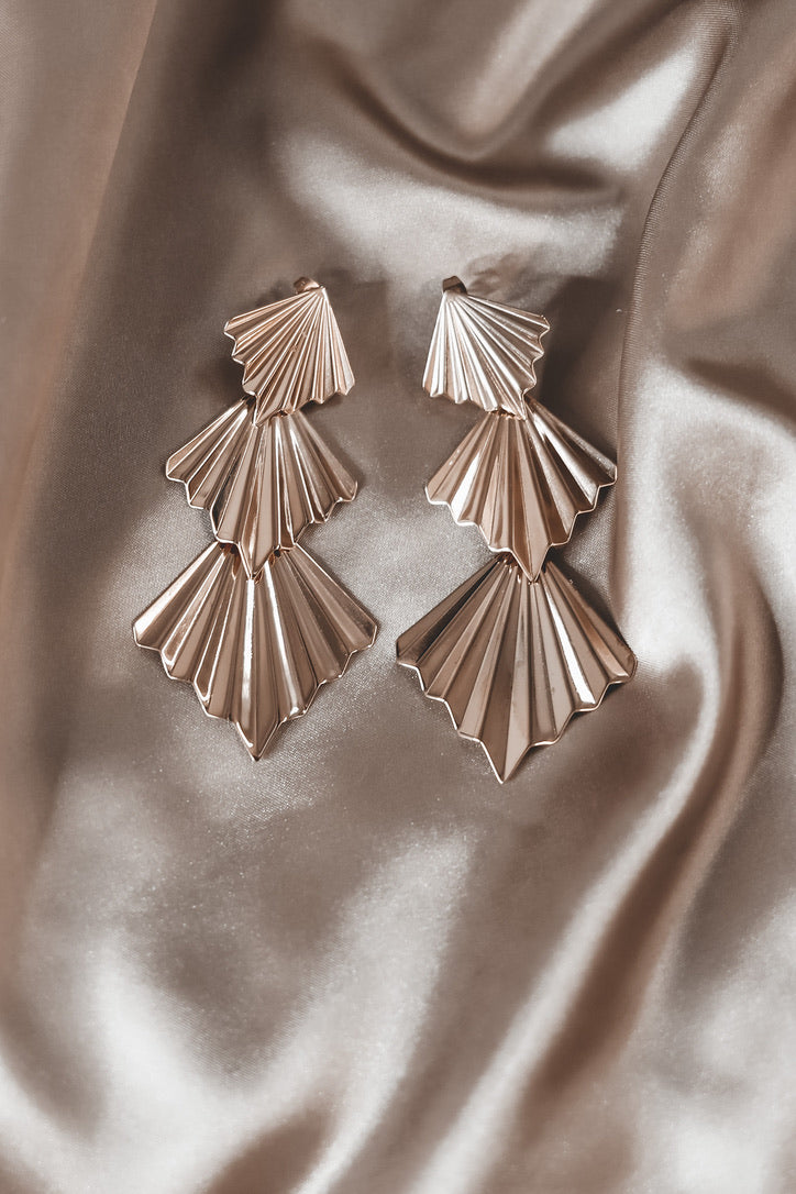 SAHIRA Sophie Deco Gold Earrings