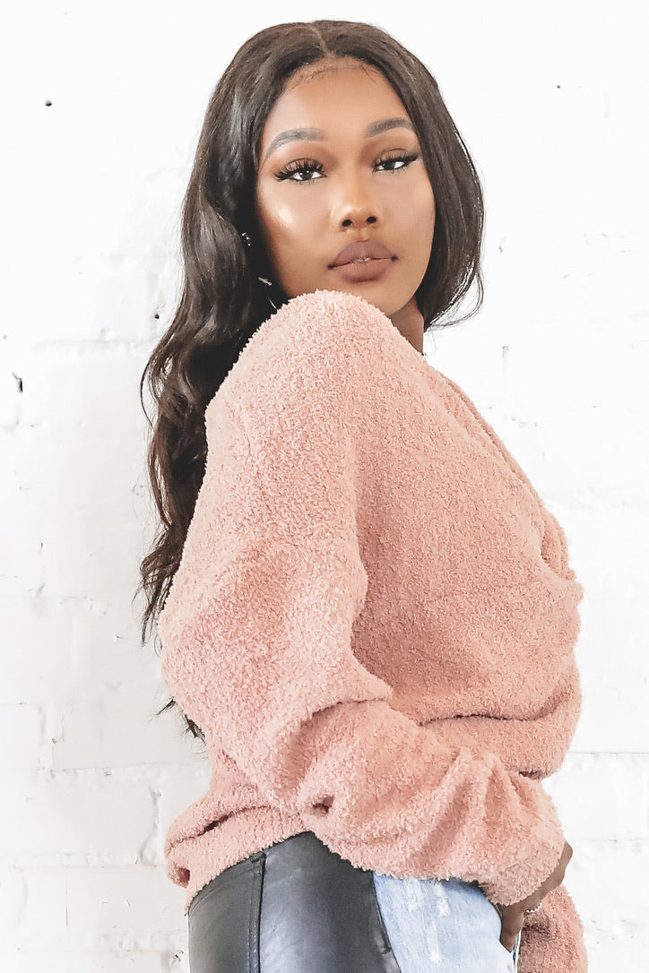 Twist And Shout Mauve Knot Sweater