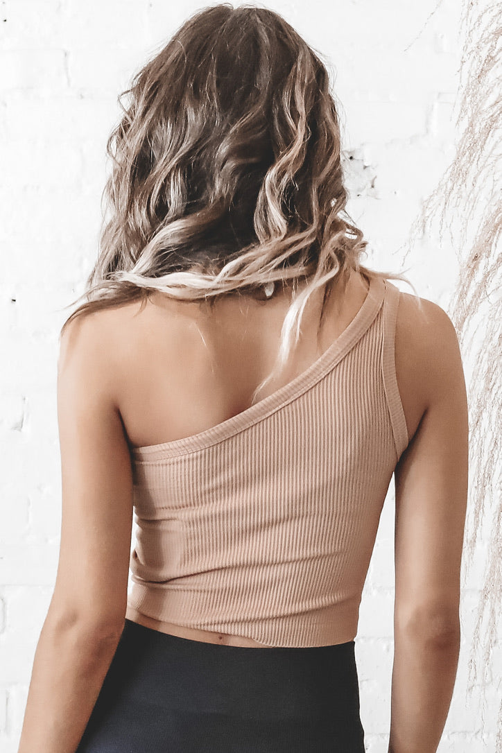 One Way Or Another One Shoulder Lounge Top