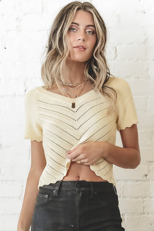 The Crochet To My Heart Yellow Top