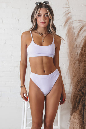 High Tide High Waisted Purple Bikini Bottoms