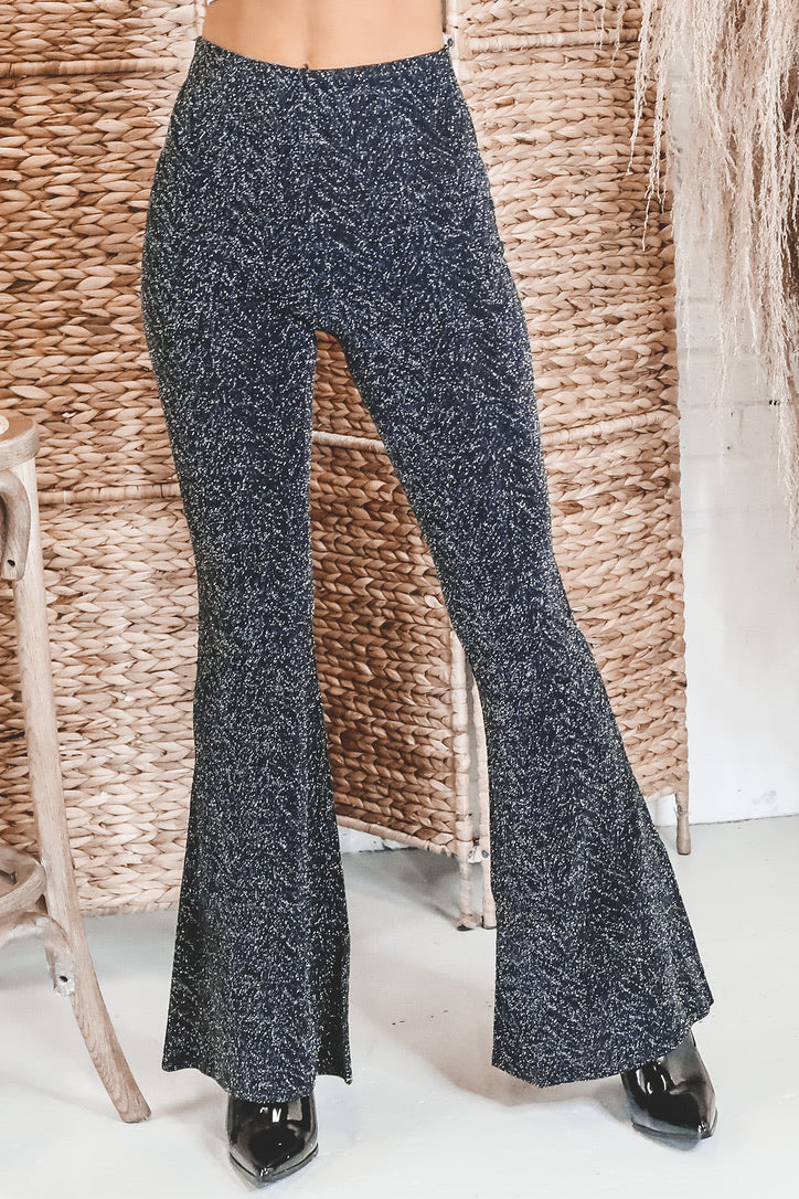 BAND OF GYPSIES Huit Black And Silver Pants