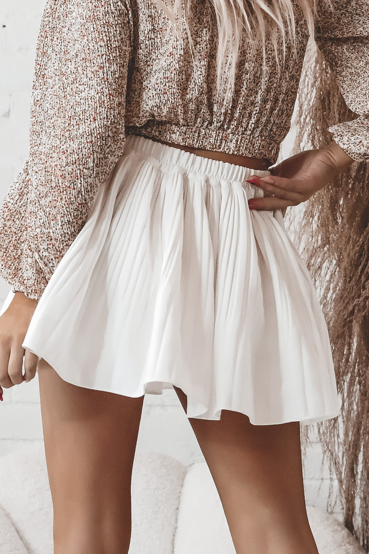 I Spy Ivory Pleated Mini Skort
