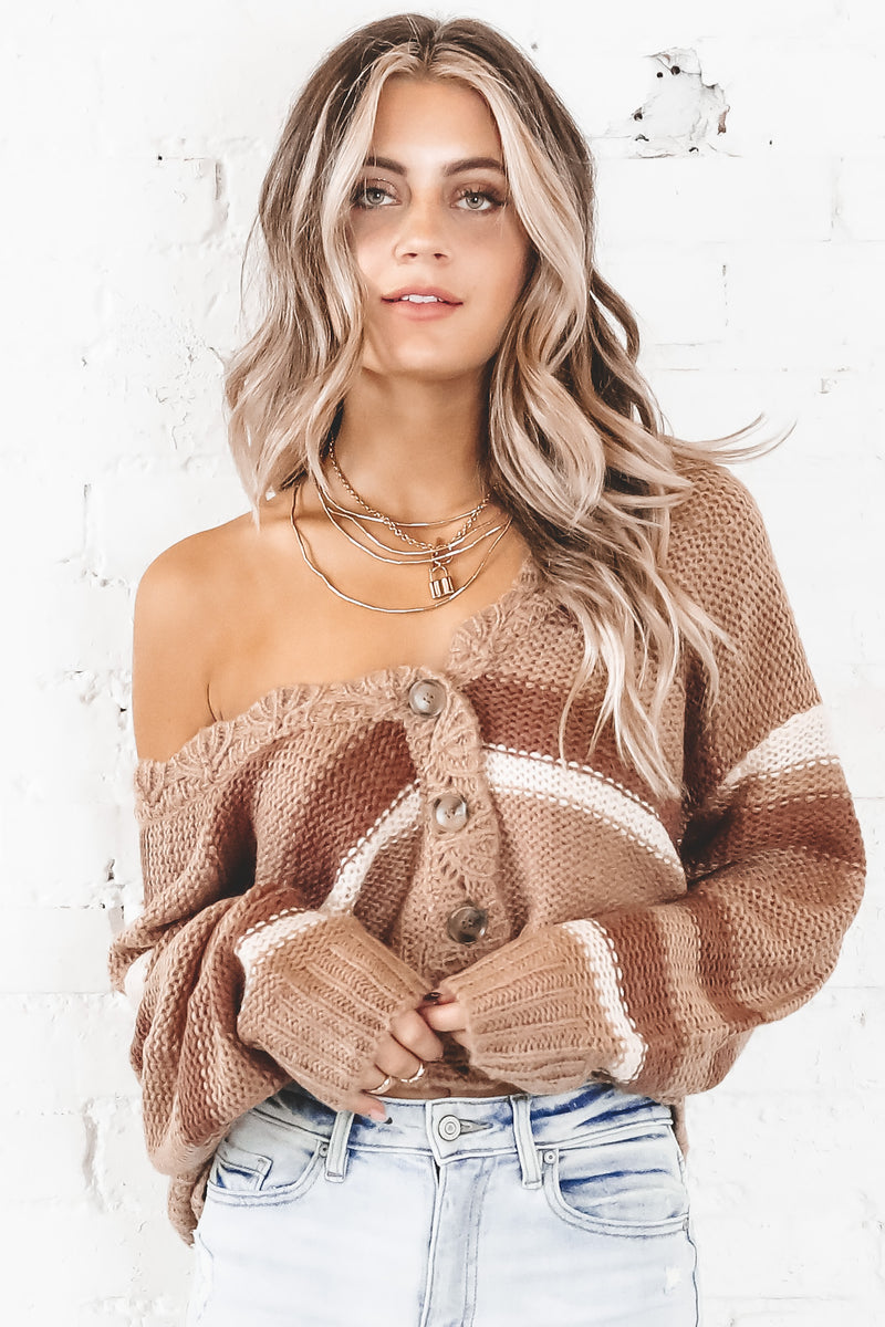 Call In Clay Knit Cardigan