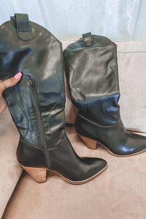 Take Me Home Black Western Boots