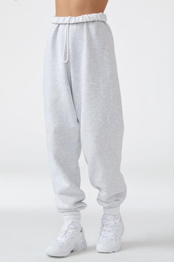 JOAH BROWN Pearl Gray Oversized Jogger