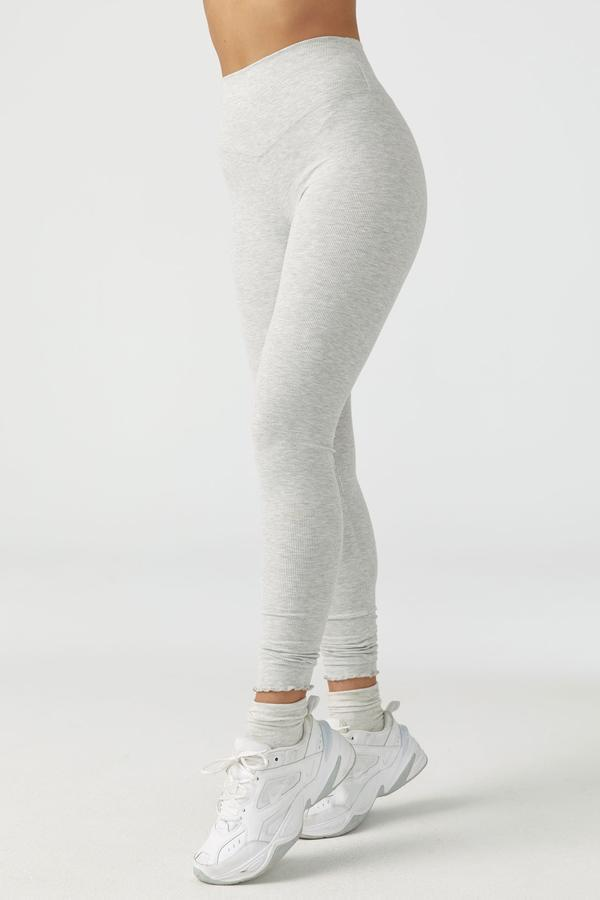 JOAH BROWN Pearl Gray Scallop Ankle Leggings