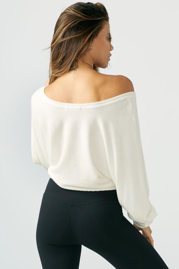 JOAH BROWN Ivory Slouchy Dolman Long Sleeve Top