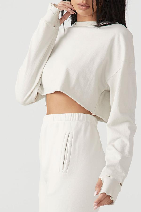 JOAH BROWN Ivory Soho Crop