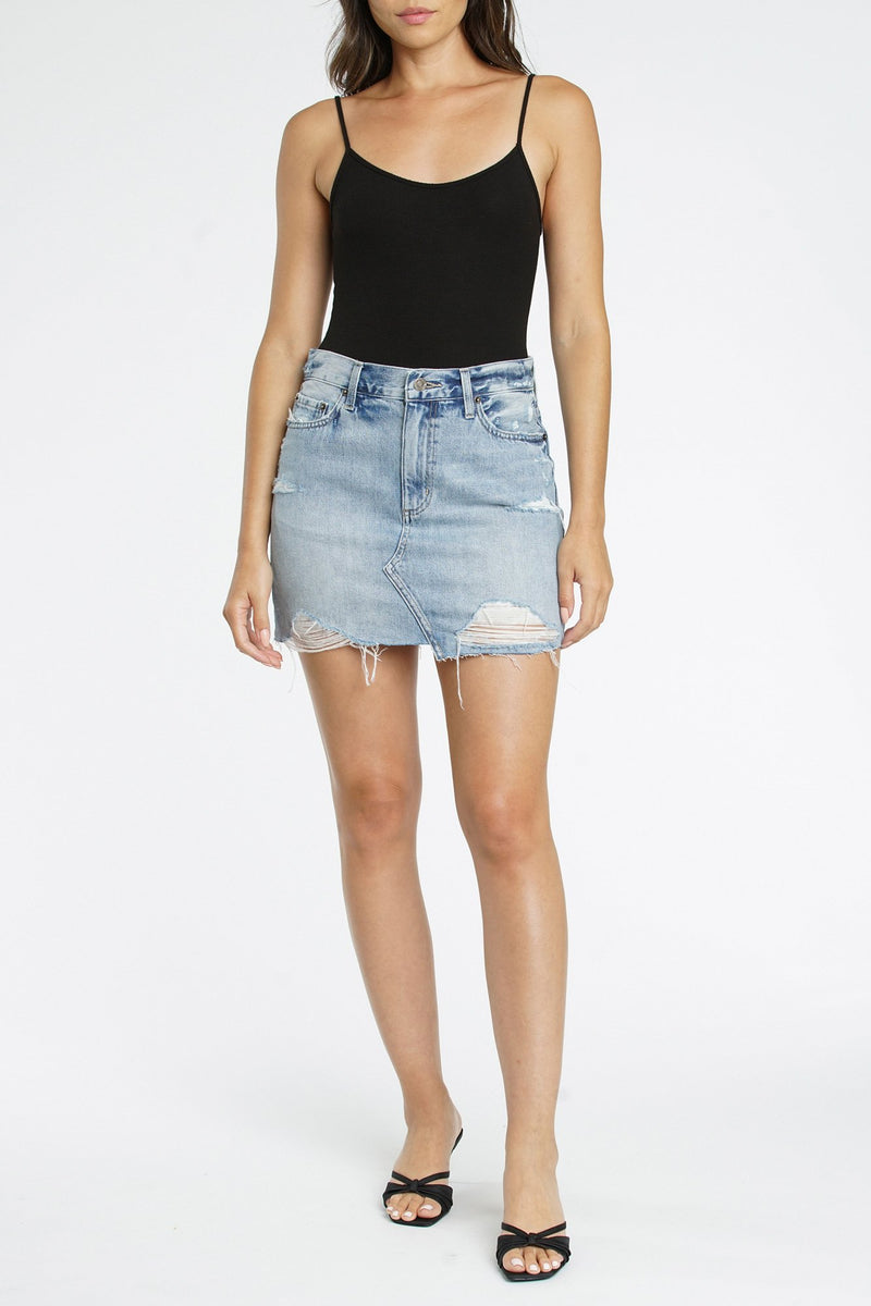 PISTOLA Rumi High Rise Denim Skirt