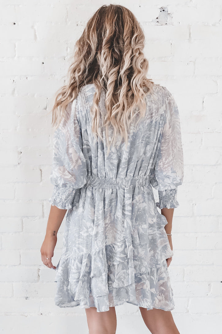 Swipe Right Ruffled Chiffon Dress