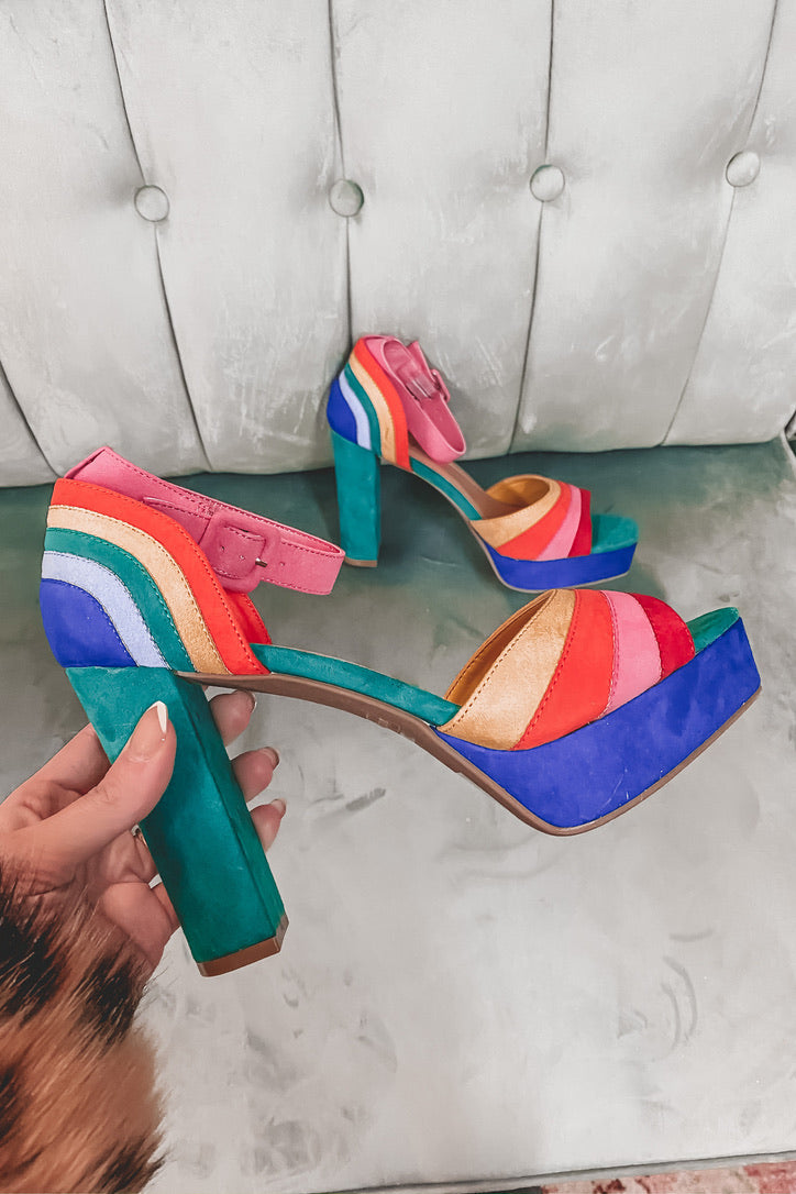 Baby You're Magic Rainbow Block Heels