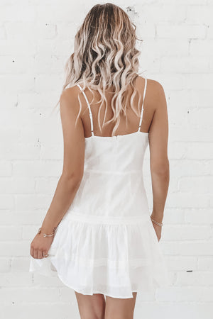 Picture Perfect Beach White Lace Dress