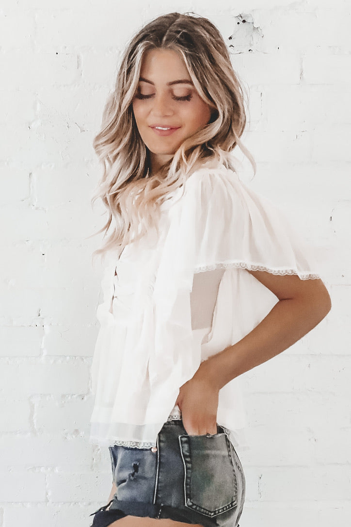 Brunch By The Sea Chiffon Top