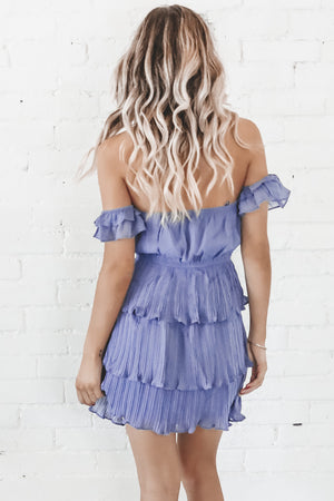 Pleat Please Off The Shoulder Dress