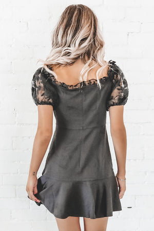 Black Is The New Black Lace Sleeve Dress