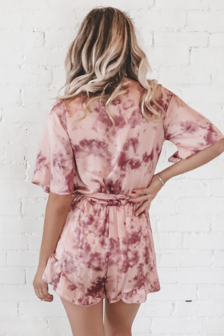 Making Moves Mauve Tie Dye Romper