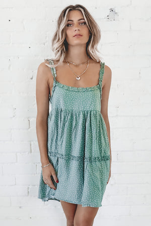 Breathless Pistachio Babaydoll Dress