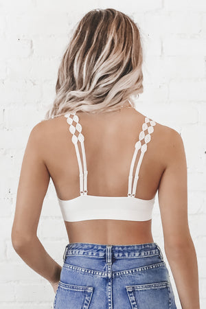 Miss You More Lace Ecru Bralette