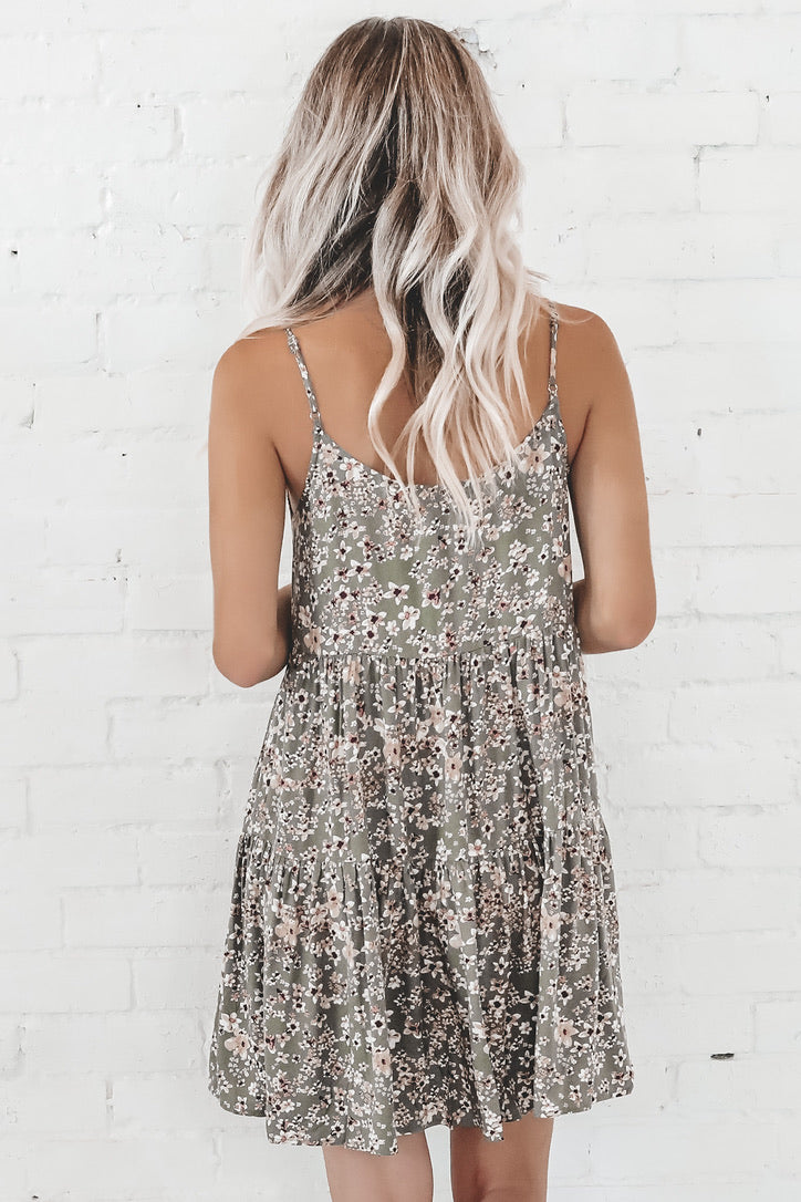 Wild Flower Tiered Mini Dress