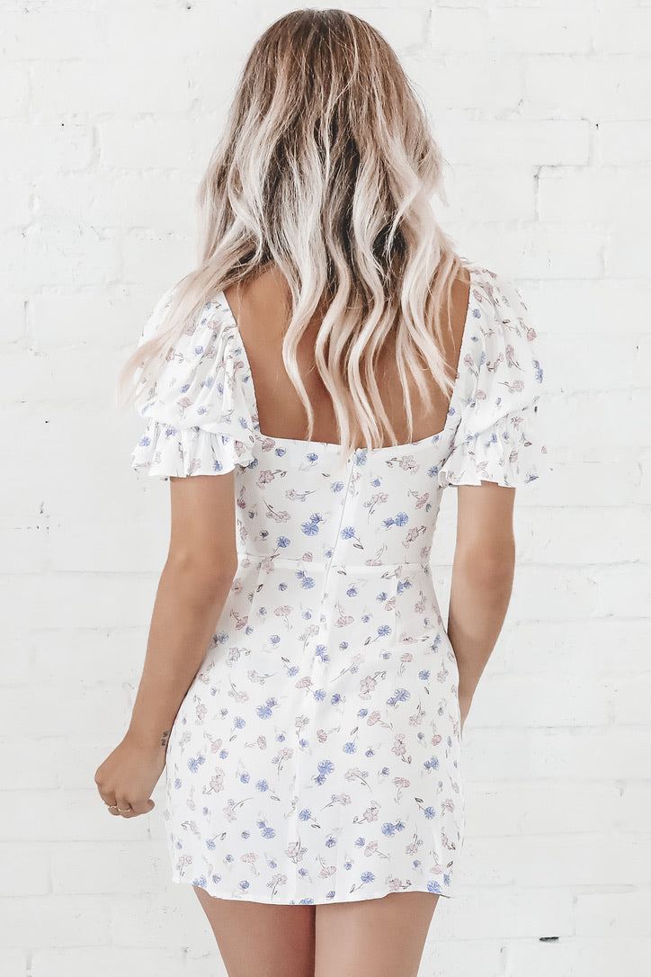 You Do You Sis White Floral Dress
