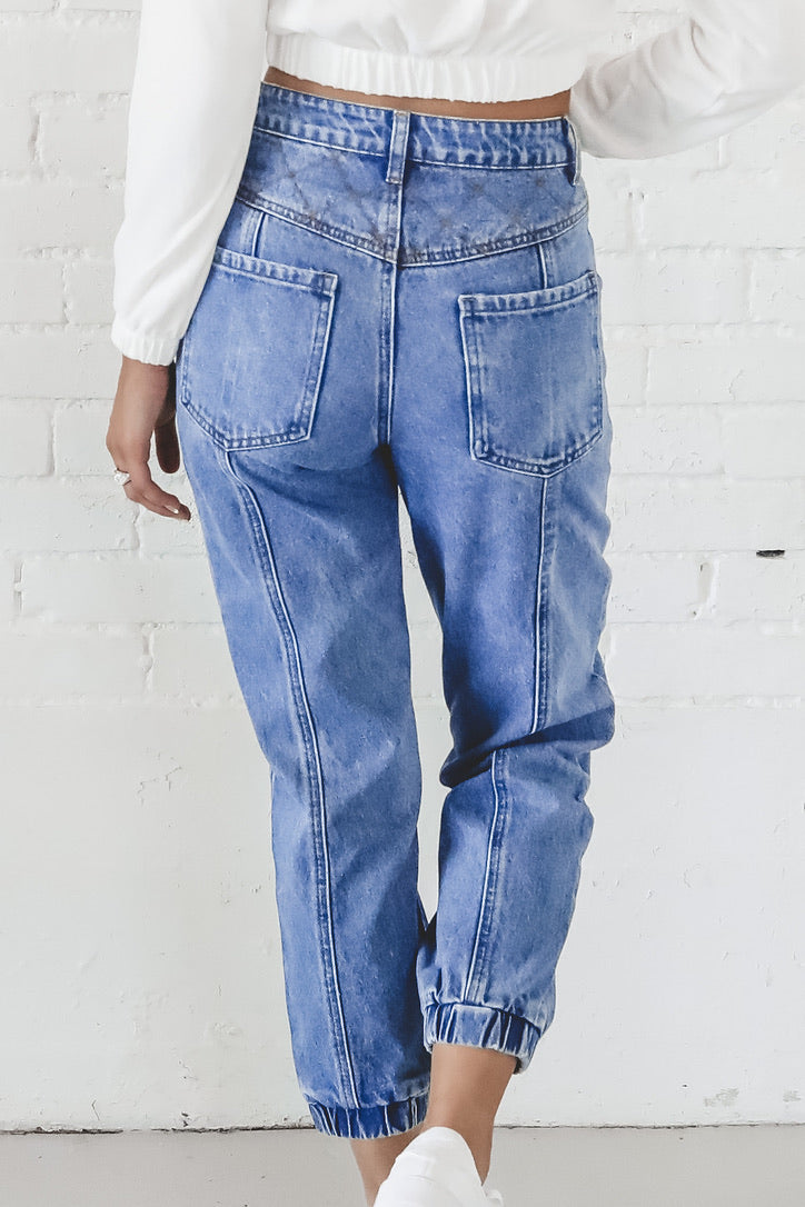 X's And O's Denim Joggers