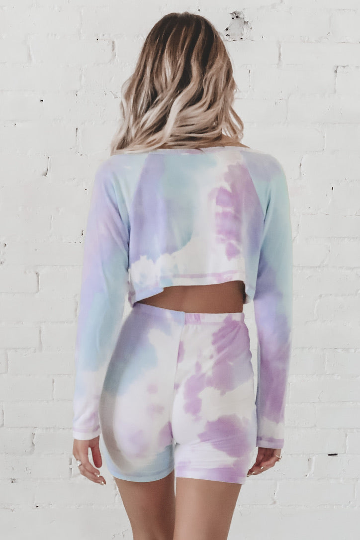 Sassy And Single Lilac Tie Dye Set
