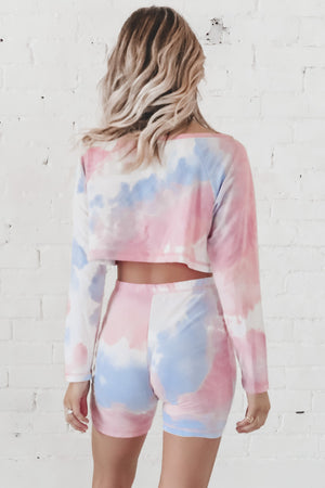 Sassy And Single Mauve Tie Dye Set